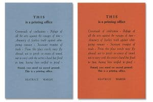 This is a printing office – blau orange
