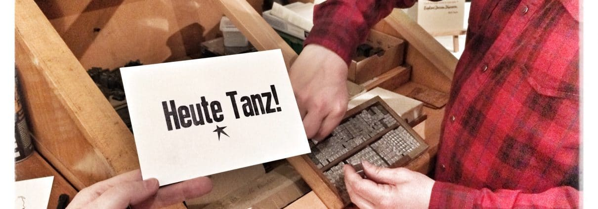 Bleisatz-Workshop Druck in den Mai