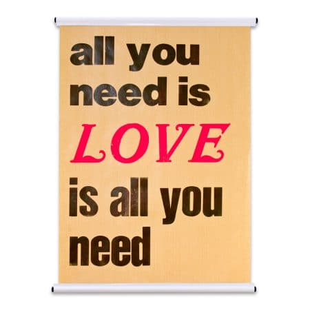 Poster DIN A2 auf Kraftpapier, Love is all you need