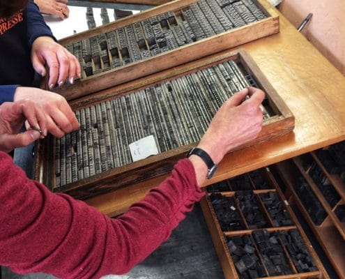 Pavillon Presse Weimar, »Letterpress today« – Workshop